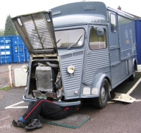 Exhaust repairs on Citroen H Van
