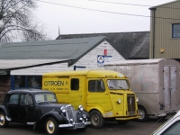 Citroen H Van outside Citroen Classics workshop